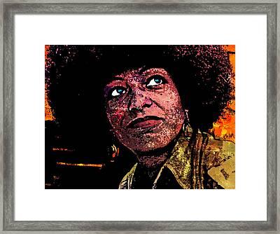 Angela Davis-5 Framed Print