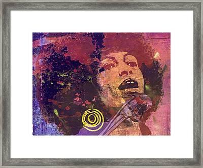 Angela Davis-6b Framed Print