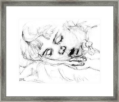 Angela Framed Print by Diana Ludwig