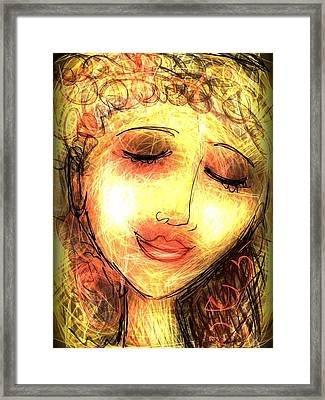 Framed Print featuring the digital art Angela by Elaine Lanoue