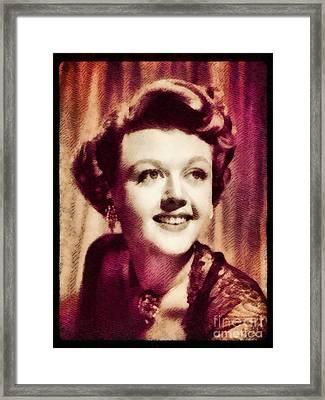 Angela Lansbury, Hollywood Legend By John Springfield Framed Print