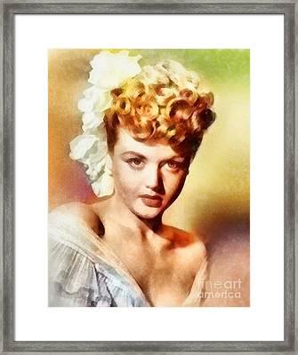 Angela Lansbury, Vintage Hollywood Actress Framed Print