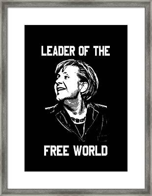 Angela Merkel Leader Of The Free World Framed Print