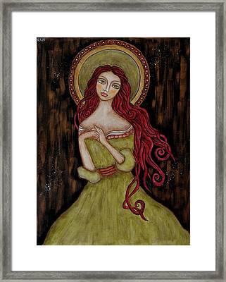 Angela Framed Print by Rain Ririn