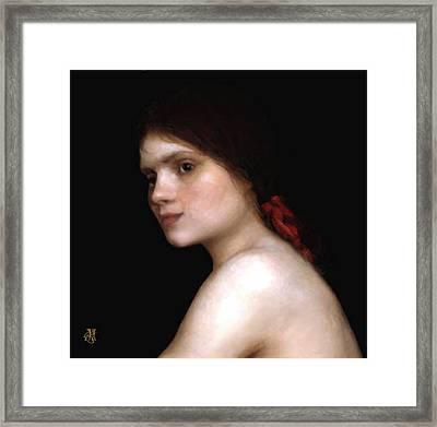 Angela's Ribbon Framed Print by John Helgeson