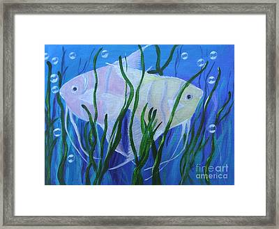 Angelfish Duo Framed Print