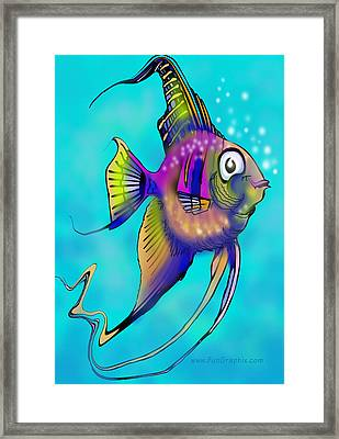 Framed Print featuring the painting Angelfish by Kevin Middleton