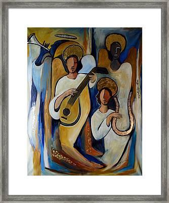 Angelic Choir Framed Print by Valerie Vescovi