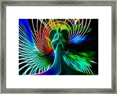Angelic Colors Of Peace Framed Print by Cco