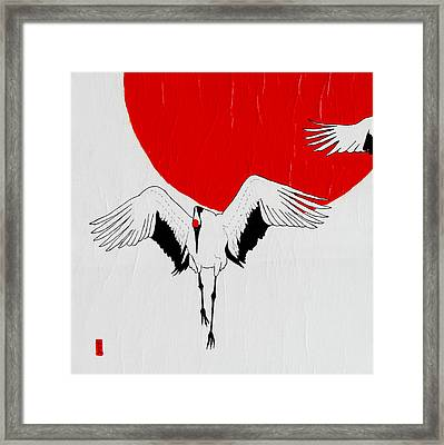 Angelic Crane Framed Print by Stephanie Grant