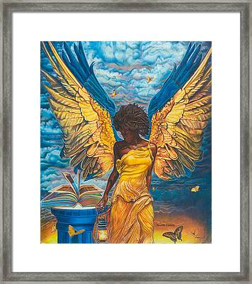 Angelic Guidance Framed Print by Buena Johnson