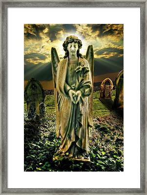 Angelic Light In Color Framed Print by Meirion Matthias