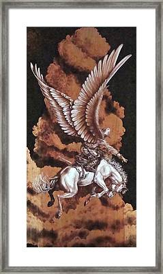 Angelic Saddle Bronc Framed Print by Jerrywayne Anderson