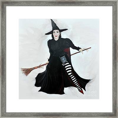 Angelica Houston Bewitched Framed Print