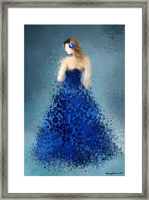 Framed Print featuring the digital art Angelica by Nancy Levan