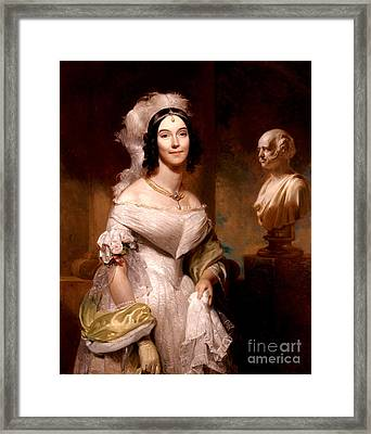 Angelica Van Buren, First Lady Framed Print by Science Source