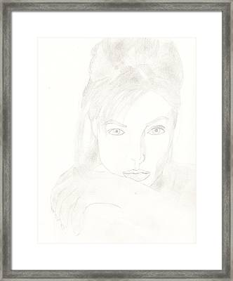 Angelina Framed Print by Carlos Hyman