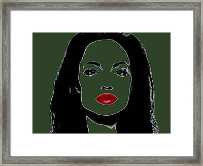Angelina Jolie 3h Framed Print