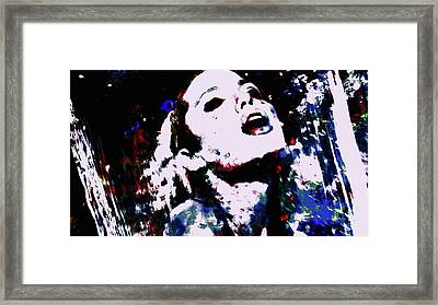Angelina Jolie In The Moment Framed Print