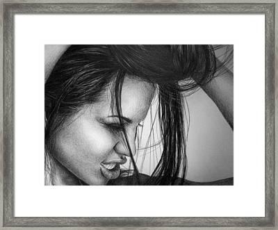 Angelina Jolie Framed Print by Jennifer Bryant