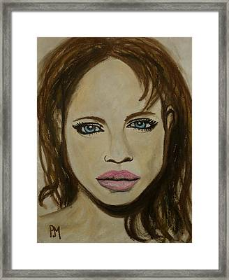 Angelina Jolie Framed Print by Pete Maier