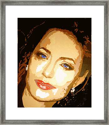 Angelina Framed Print by Richard La Valle