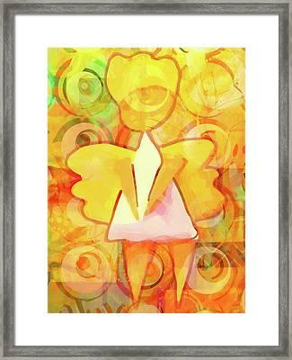 Angelino Yellow Framed Print