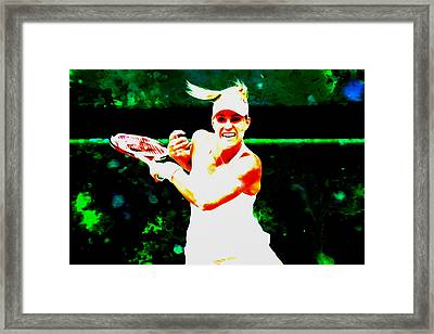 Angelique Kerber 3c Framed Print by Brian Reaves