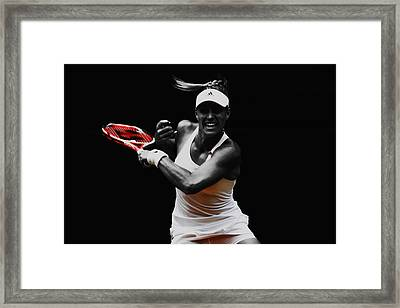 Angelique Kerber 3e Framed Print by Brian Reaves