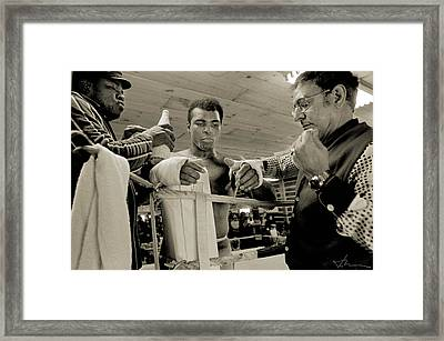 Angelo And Ali Wrap Hands Framed Print