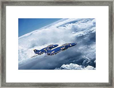 Angels Above Framed Print by Peter Chilelli
