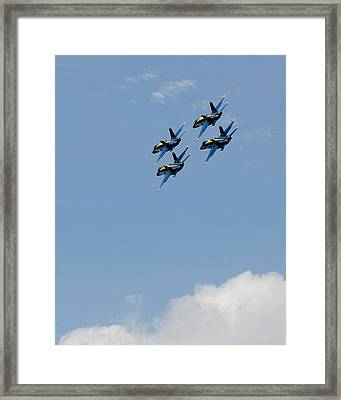 Angels Above The Clouds Framed Print