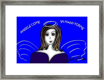 Angels - Angels Come In Many Forms Framed Print