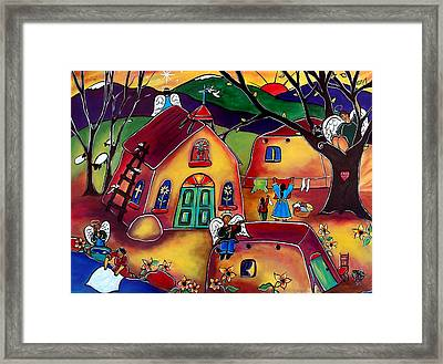 Angels Are Everywhere Framed Print