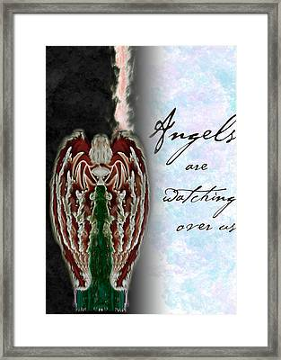Angels Are Watching Over Us Framed Print by Christopher Gaston