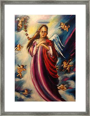 Angels Around Framed Print by Khatuna Buzzell
