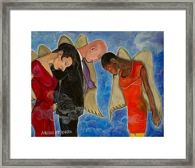 Angels At Work Framed Print