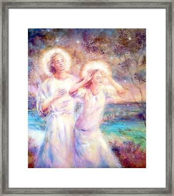 Angels By The Sea  Framed Print by Marija Schwarz