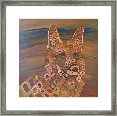 Angels Dog Framed Print