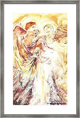 Angels Emerging Framed Print