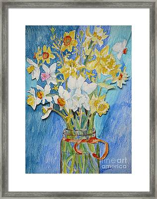 Angels Flowers Framed Print