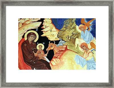Angels Greetings Framed Print by Munir Alawi