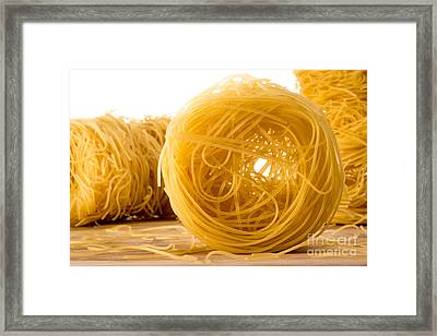 Angel's Hair Spaghetti Framed Print by Jacques Jacobsz