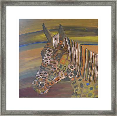 Angels Horse # 5 Framed Print by Mirek Bialy