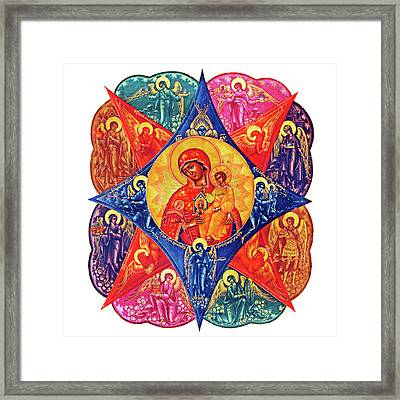 Angels In Colors Framed Print by Munir Alawi