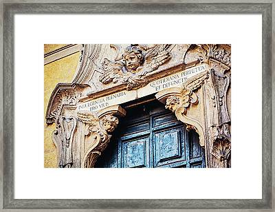 Angels In Rome Italy Framed Print by Melanie Alexandra Price