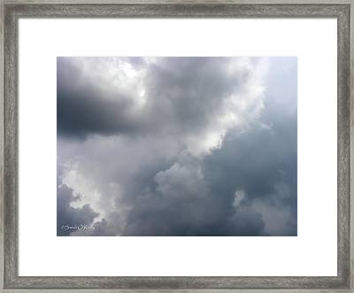 Framed Print featuring the photograph Angels In The Sky by Sandi OReilly