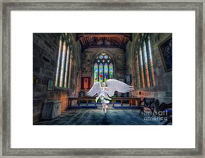 Angels Love And Guidance Framed Print