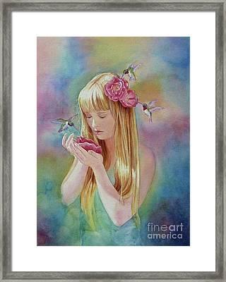 Angel's Nectar Framed Print