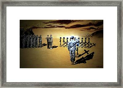 Angels Of The Sand Framed Print